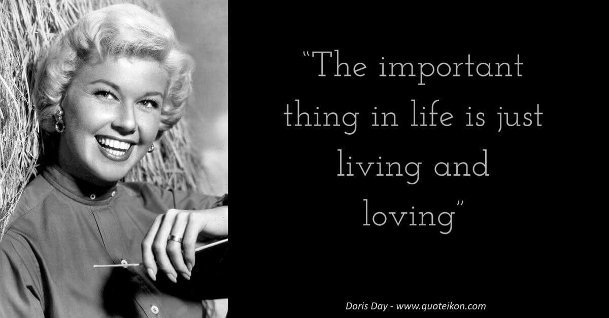 Doris Day image quote