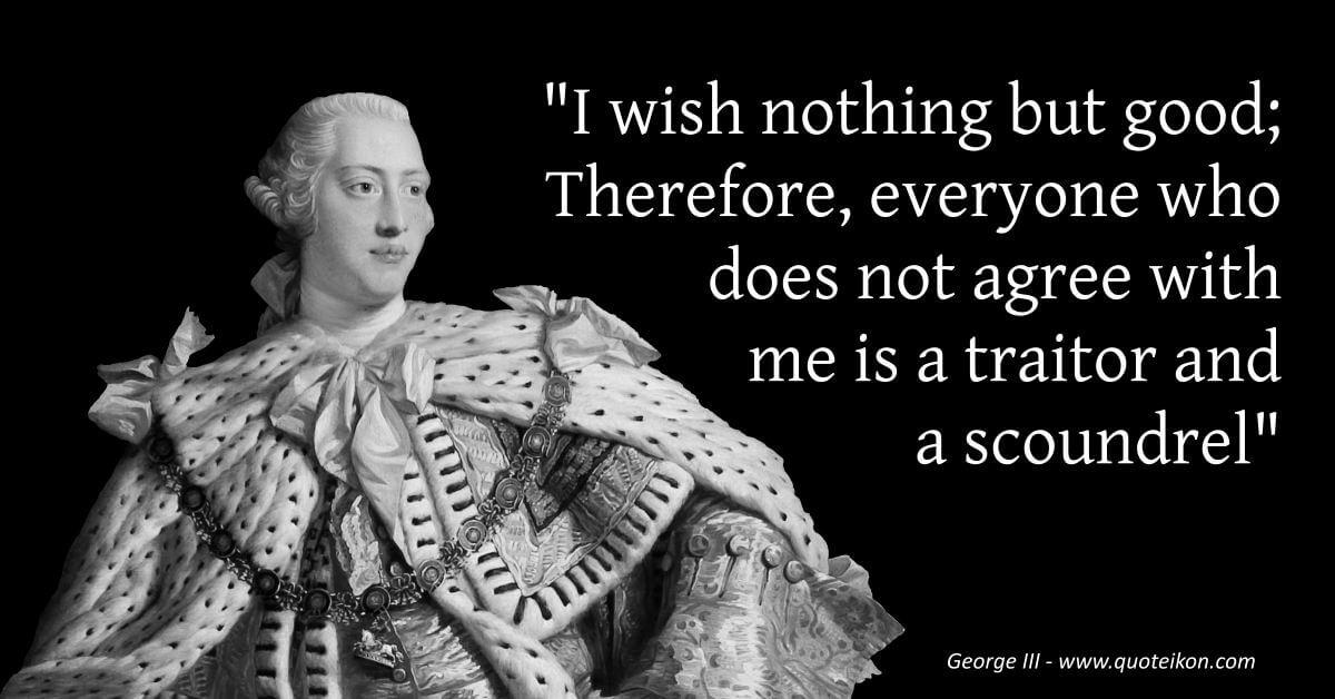 George III  image quote