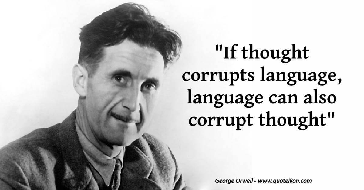 George Orwell  image quote