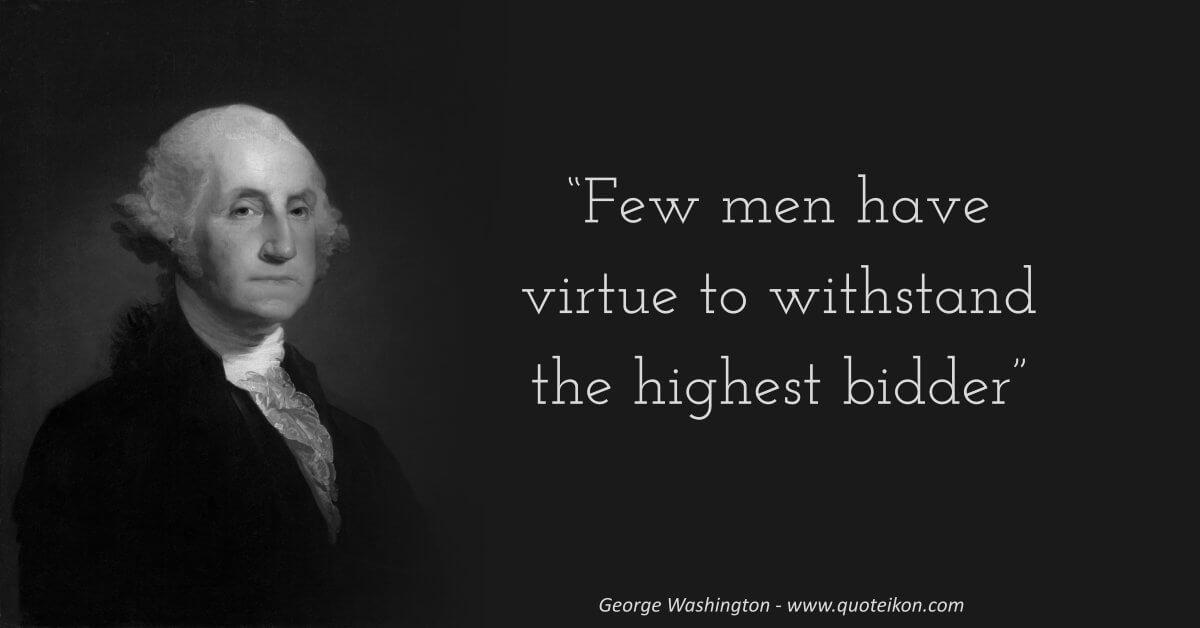 George Washington image quote
