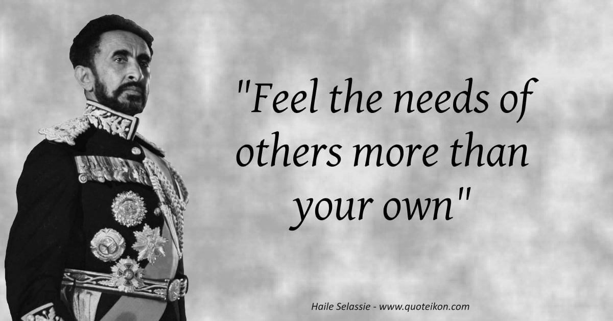 Haile Selassie  image quote