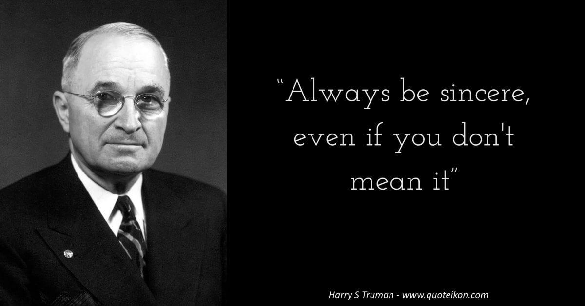 Harry S Truman  image quote