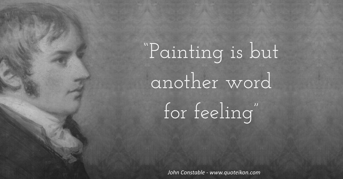 John Constable image quote