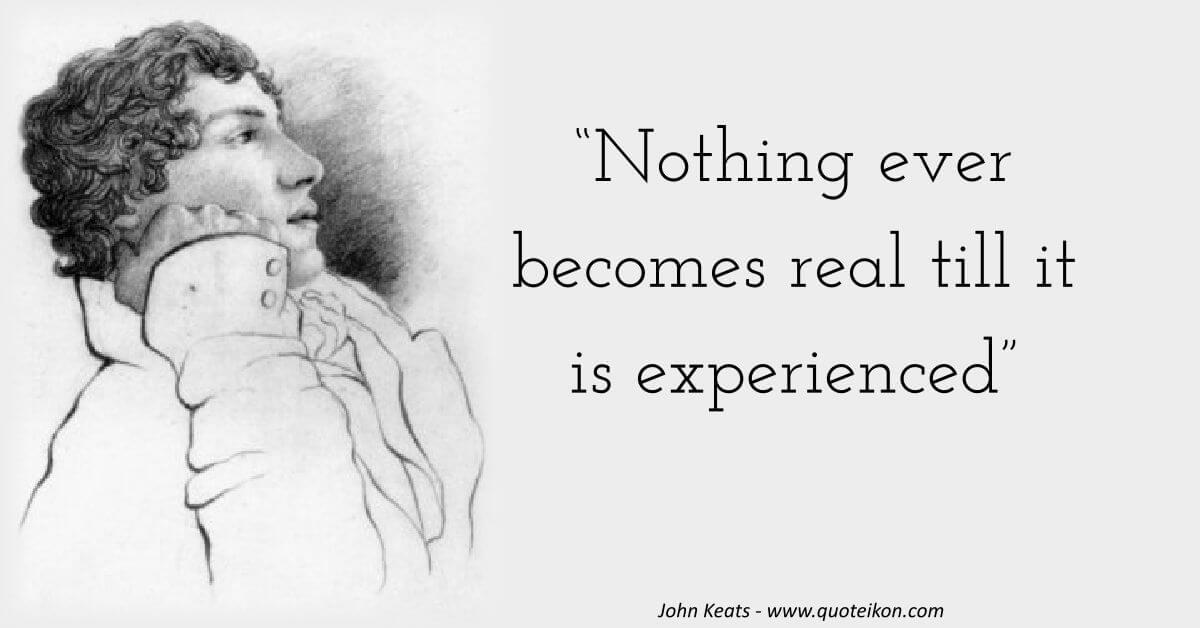 John Keats image quote