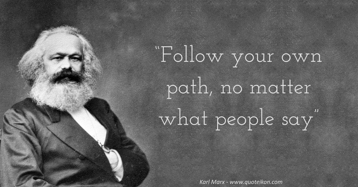 Karl Marx image quote