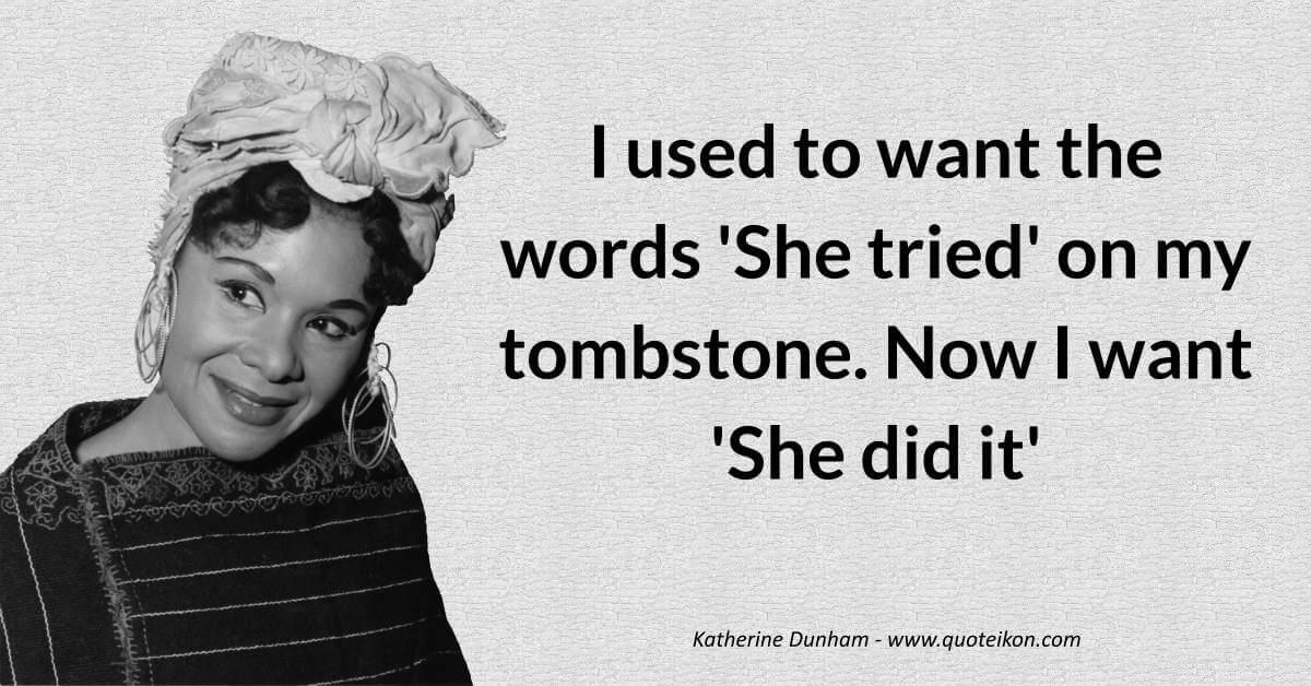 Katherine Dunham image quote