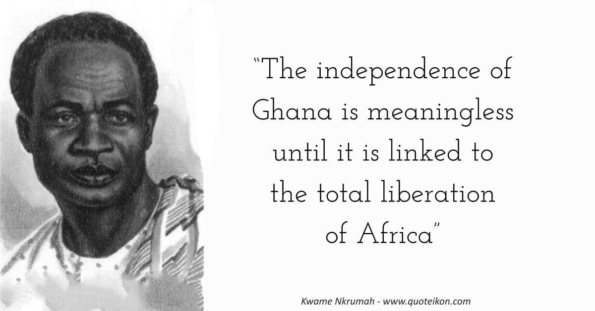 Kwame Nkrumah image quote