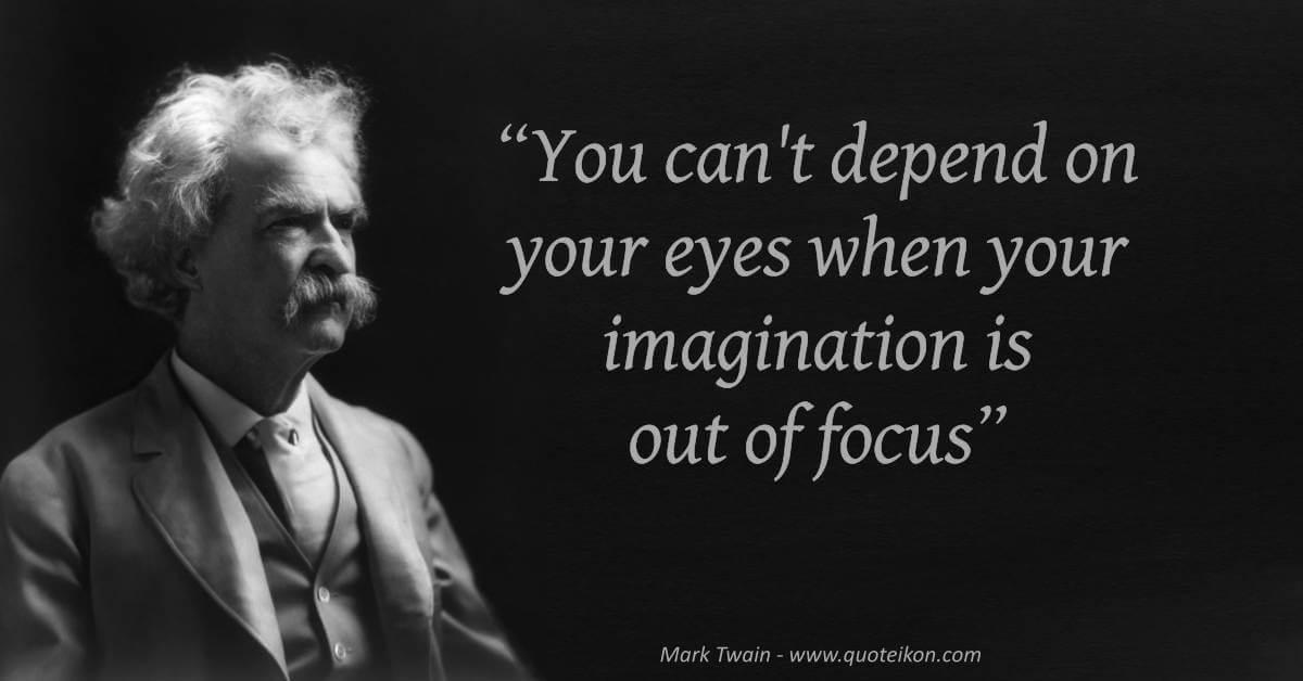 Mark Twain image quote