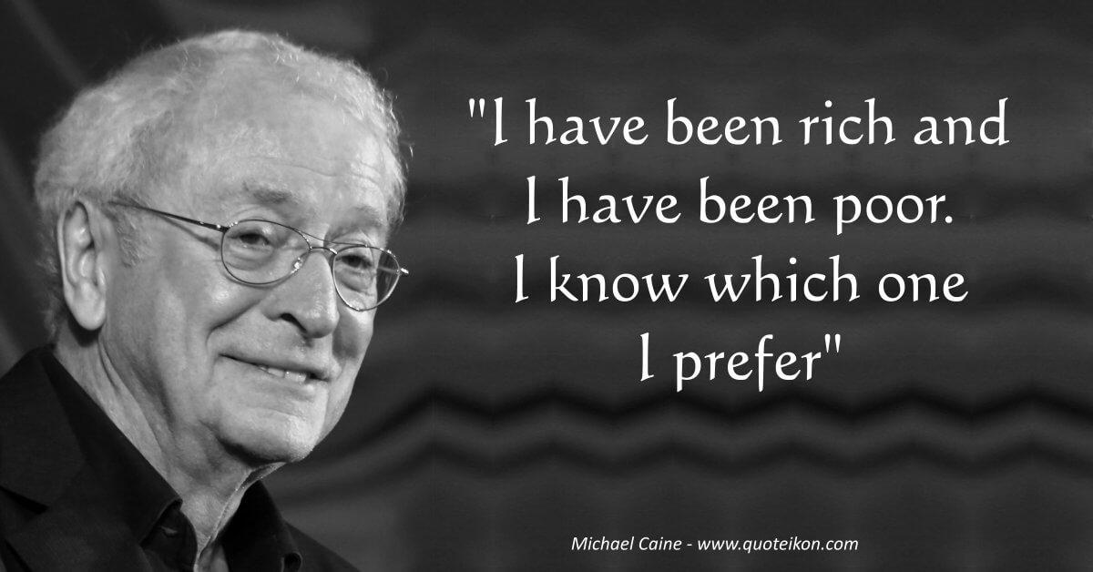 Michael Caine image quote