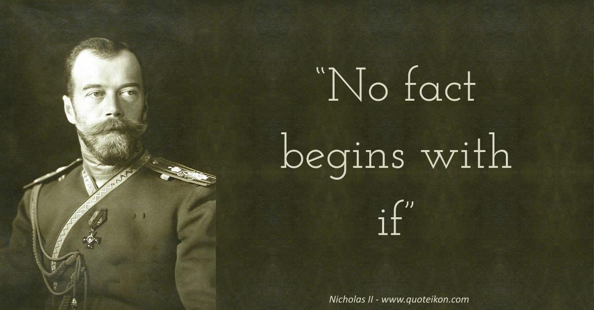 Nicholas II quote