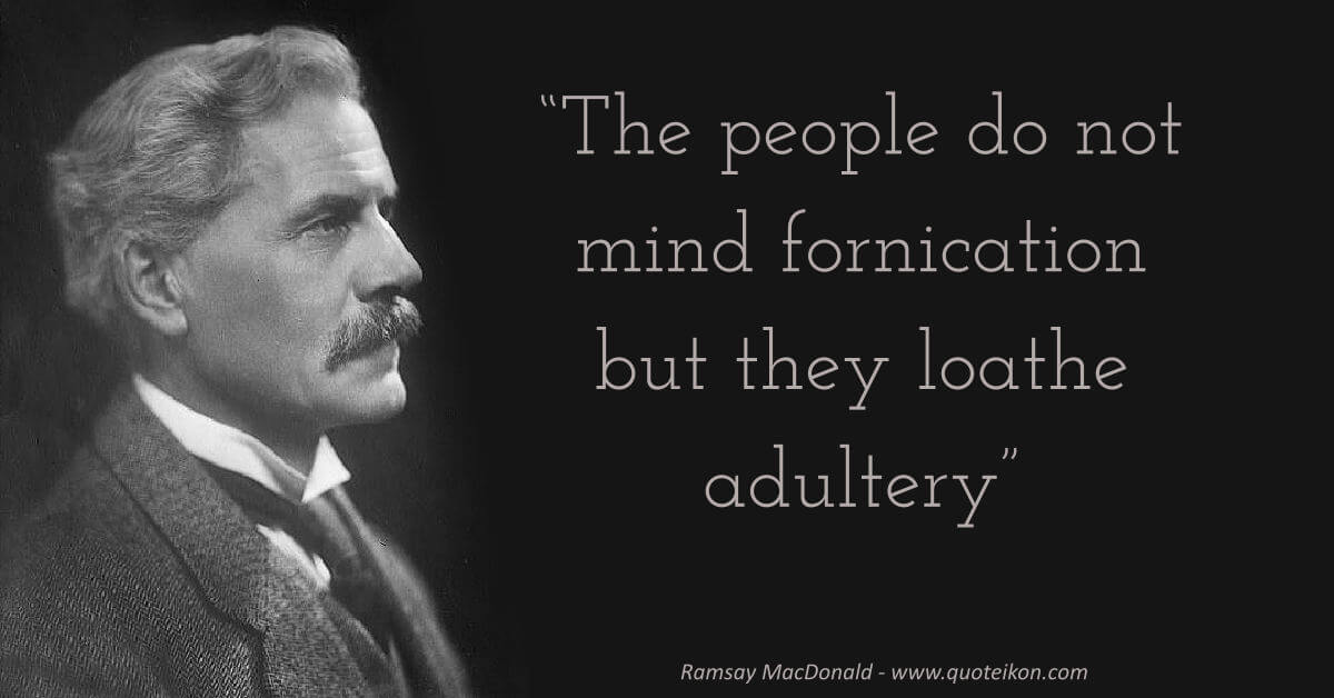 Ramsay MacDonald image quote