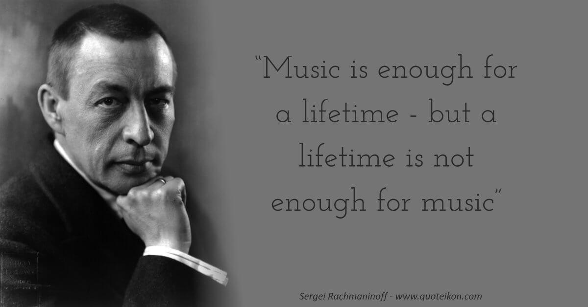Sergei Rachmaninoff  image quote