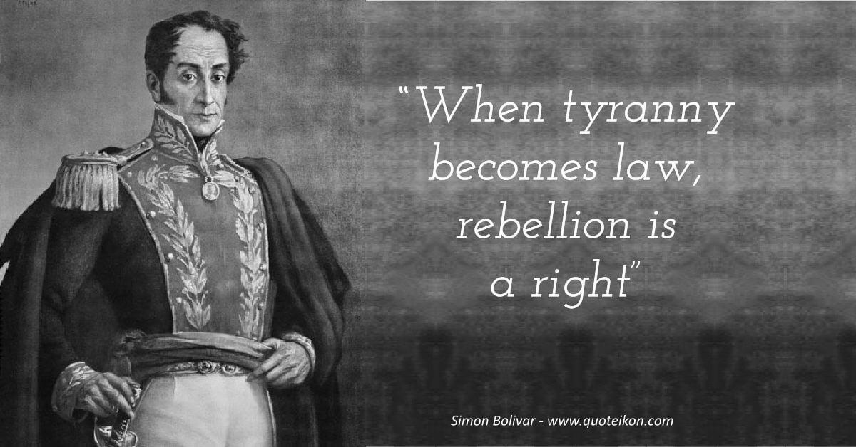 Simon Bolivar image quote