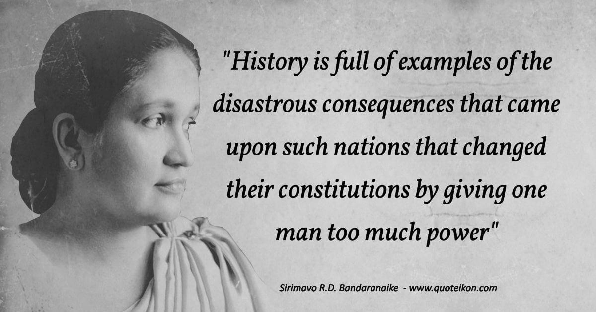 Sirimavo R.D. Bandaranaike  image quote