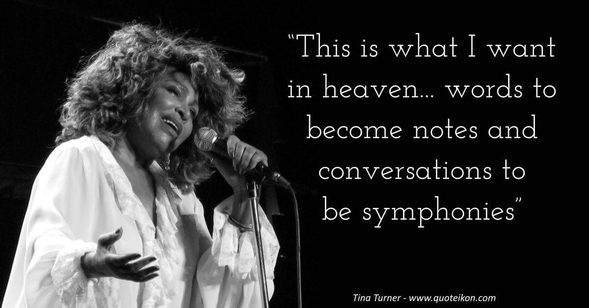 Tina Turner image quote