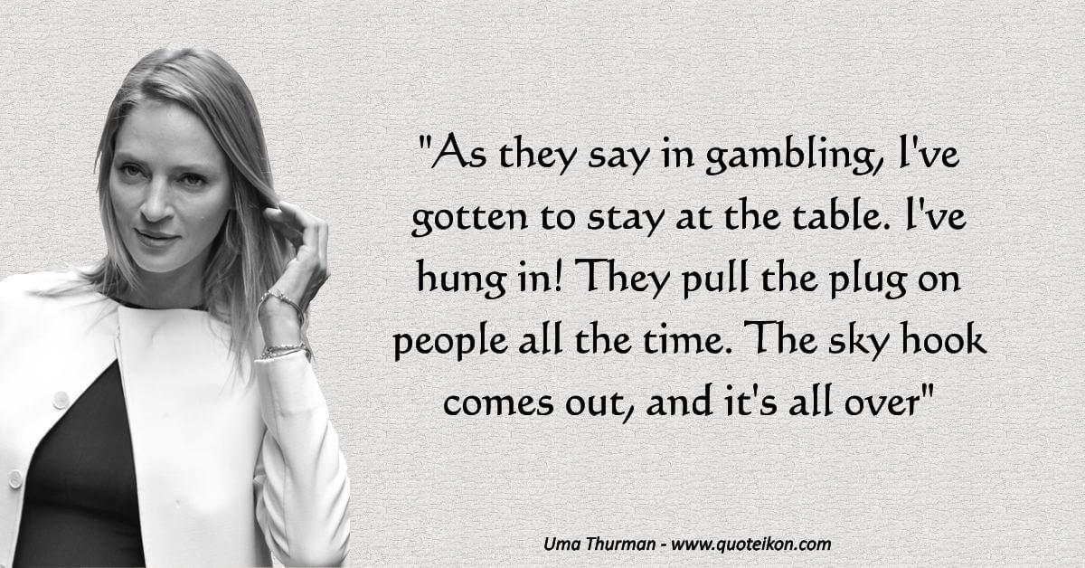 Uma Thurman  image quote