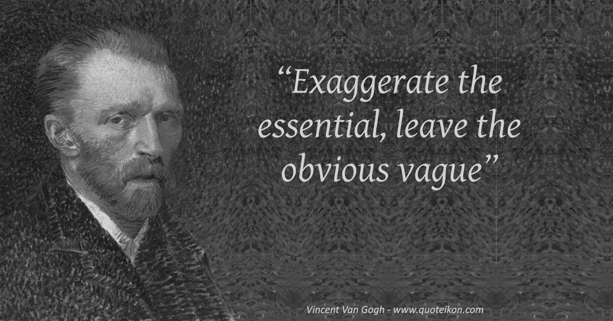 Vincent Van Gogh image quote