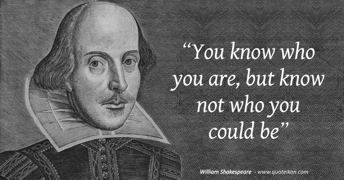 William Shakespeare image quote