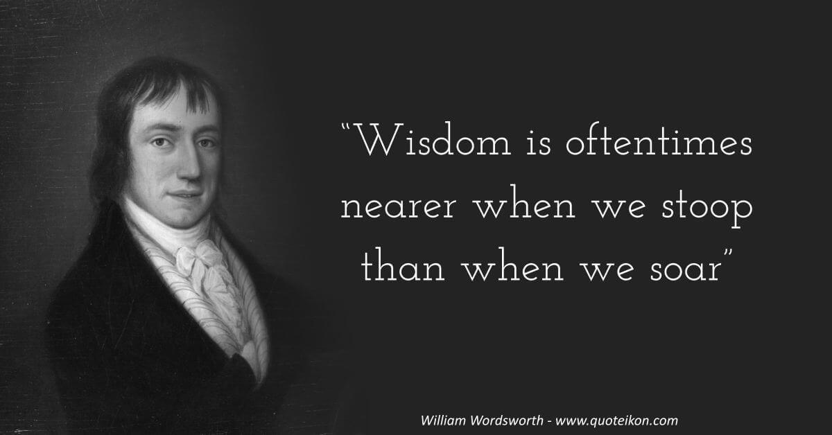 William Wordsworth image quote