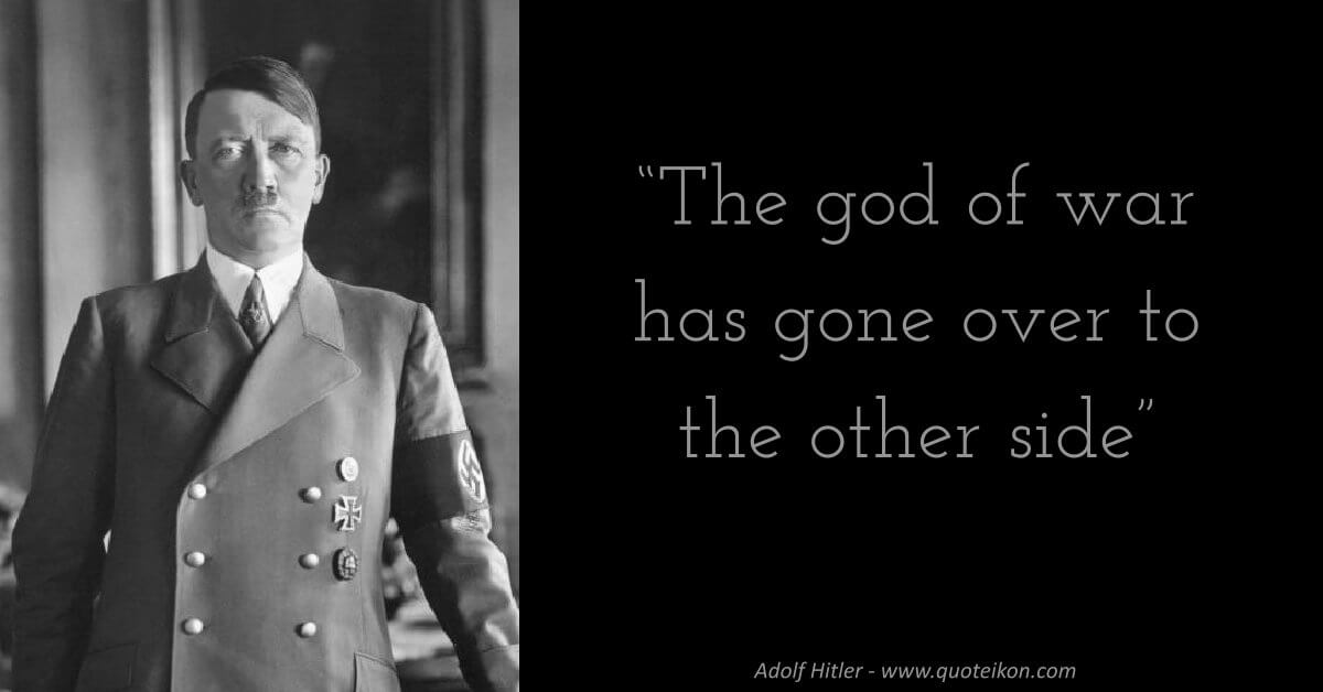 Adolf Hitler image quote