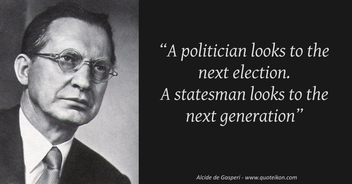 Alcide de Gasperi image quote