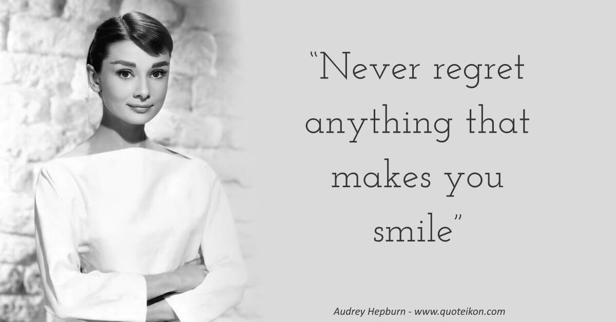 Audrey Hepburn image quote