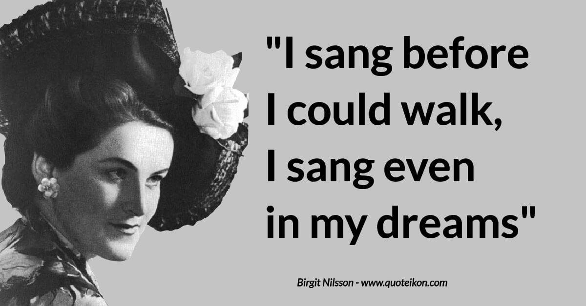 Birgit Nilsson image quote