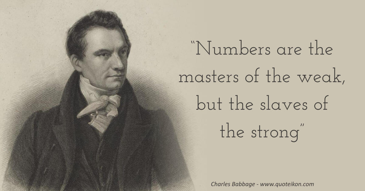 Charles Babbage image quote