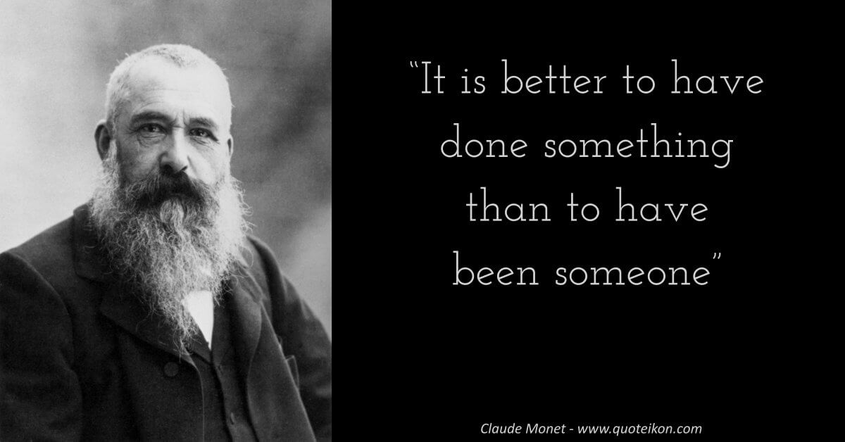 Claude Monet image quote