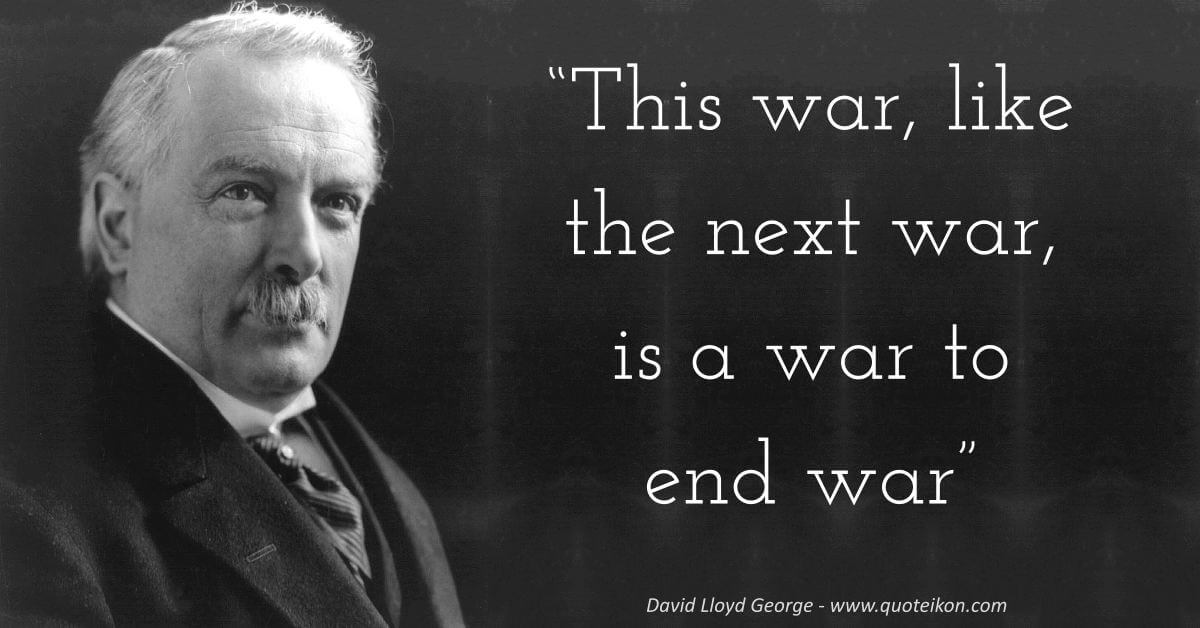 David Lloyd George image quote