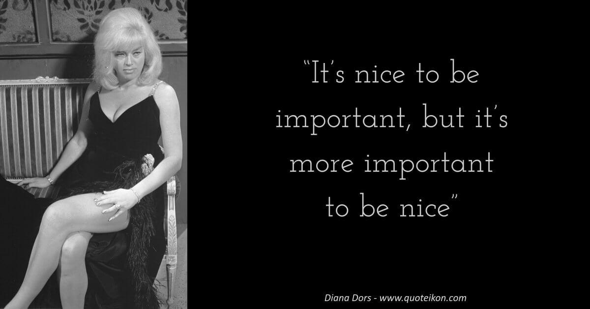 Diana Dors image quote