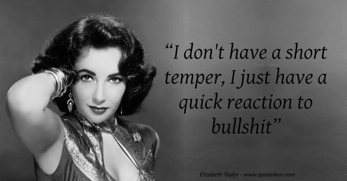 Elizabeth Taylor image quote