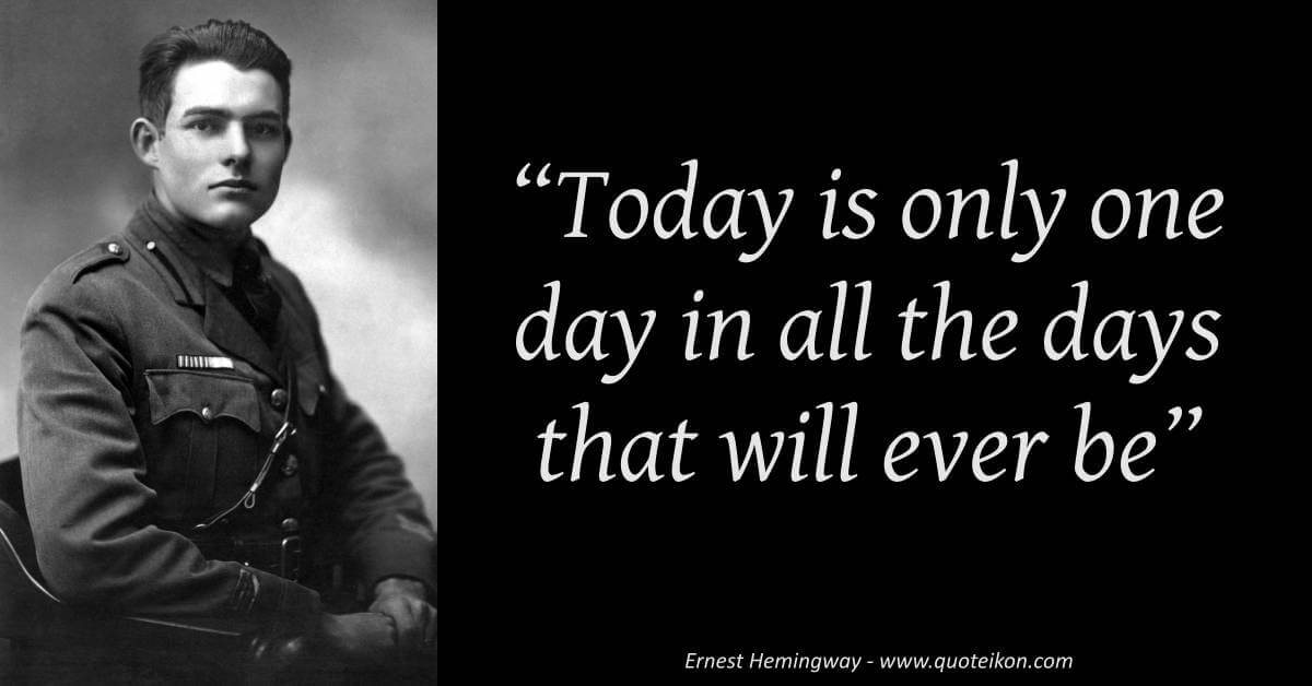 Ernest Hemingway image quote