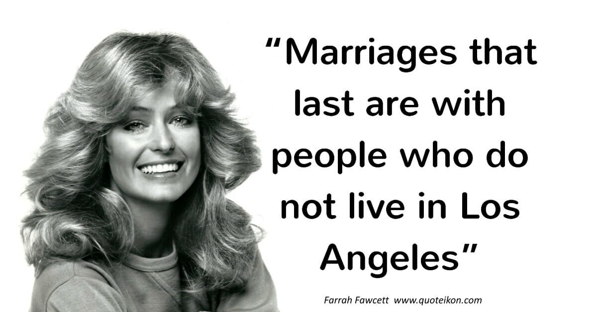 Farrah Fawcett image quote