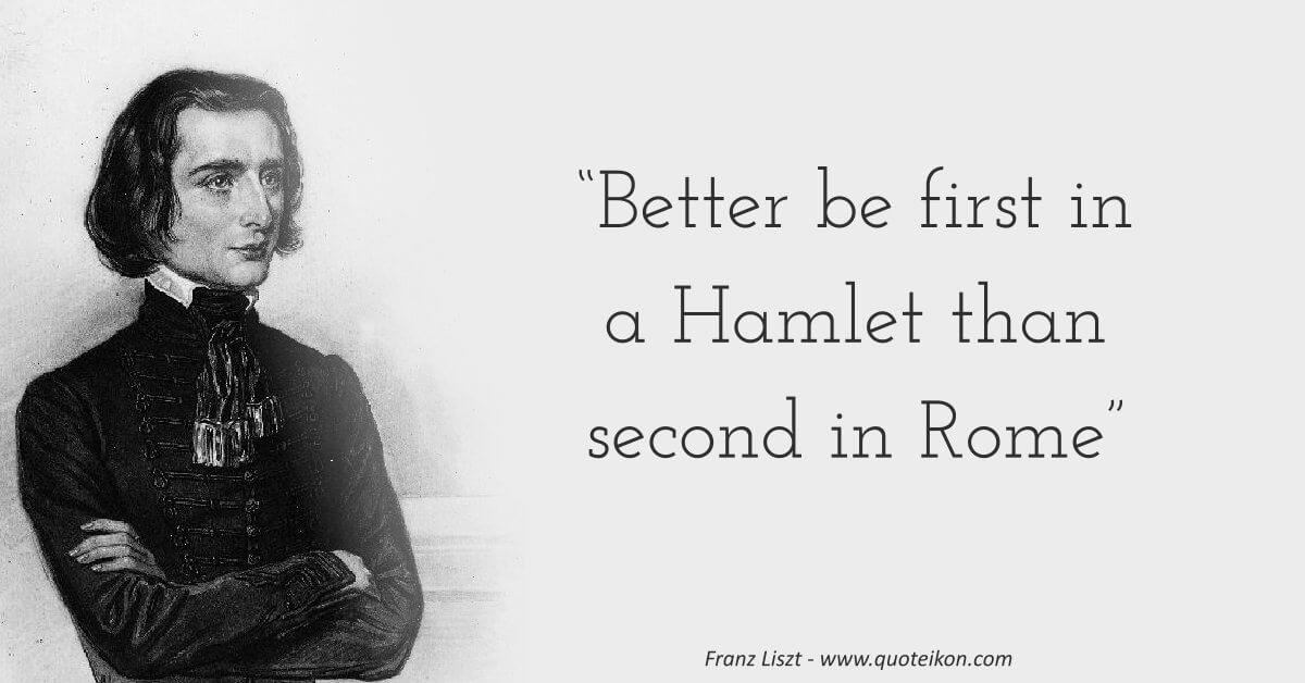 Franz Liszt image quote