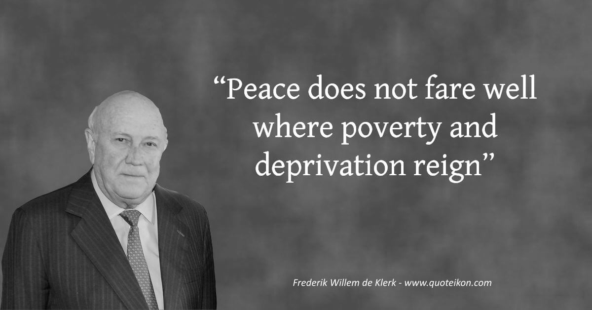 Frederik Willem de Klerk image quote