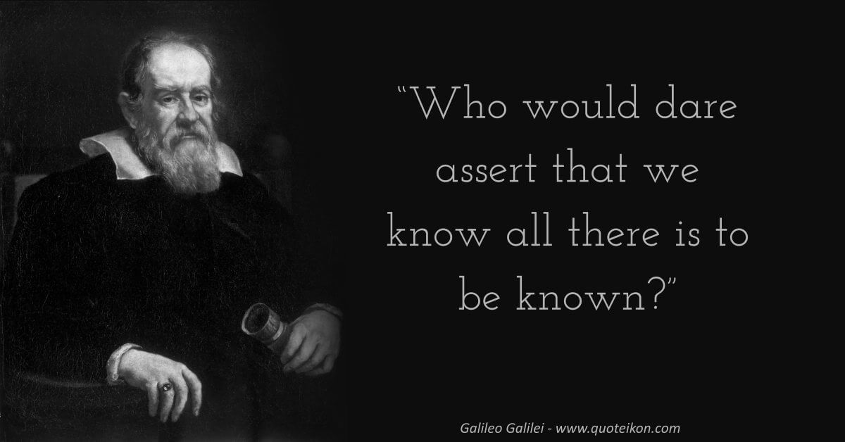 Galileo Galilei image quote