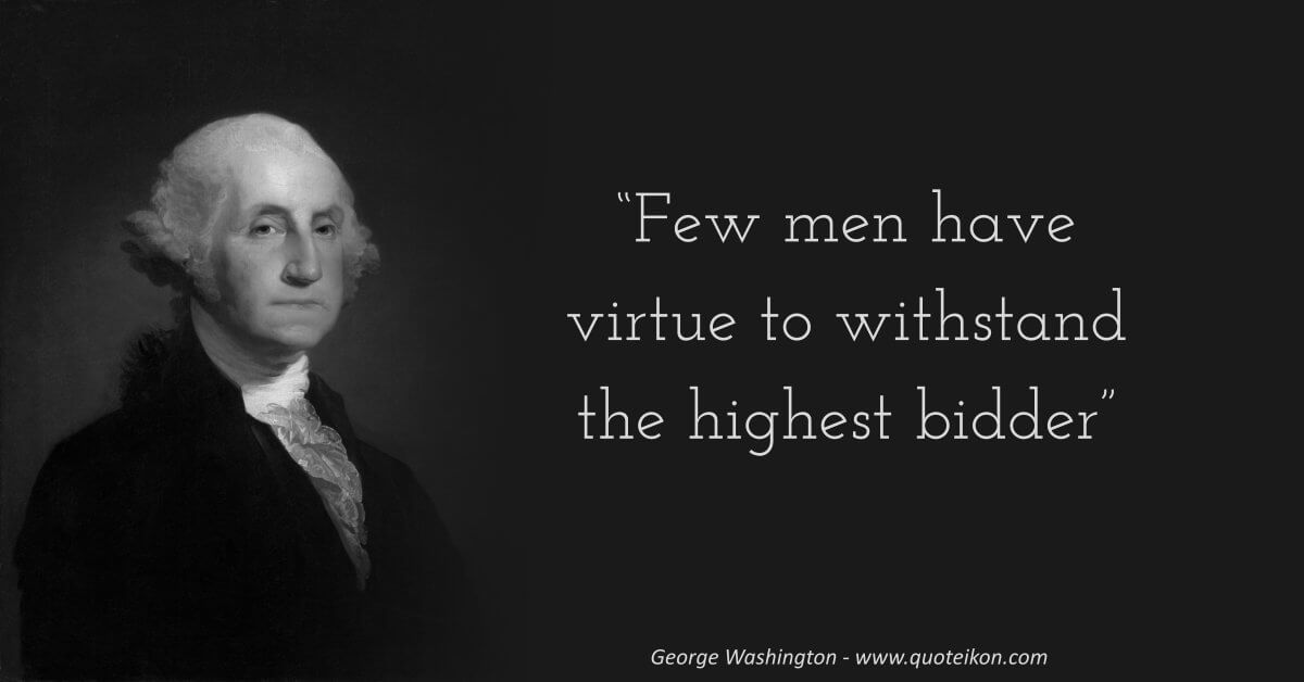 George Washington image quote