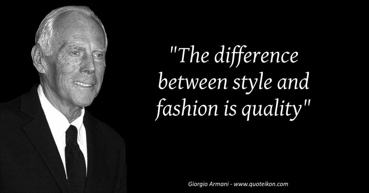Giorgio Armani  image quote