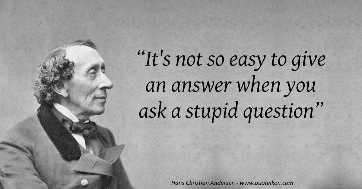 Hans Christian Andersen  image quote