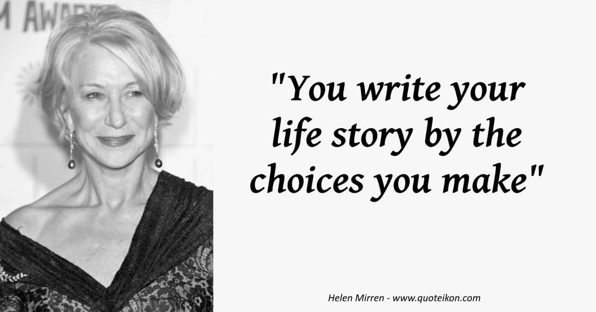 Helen Mirren  image quote