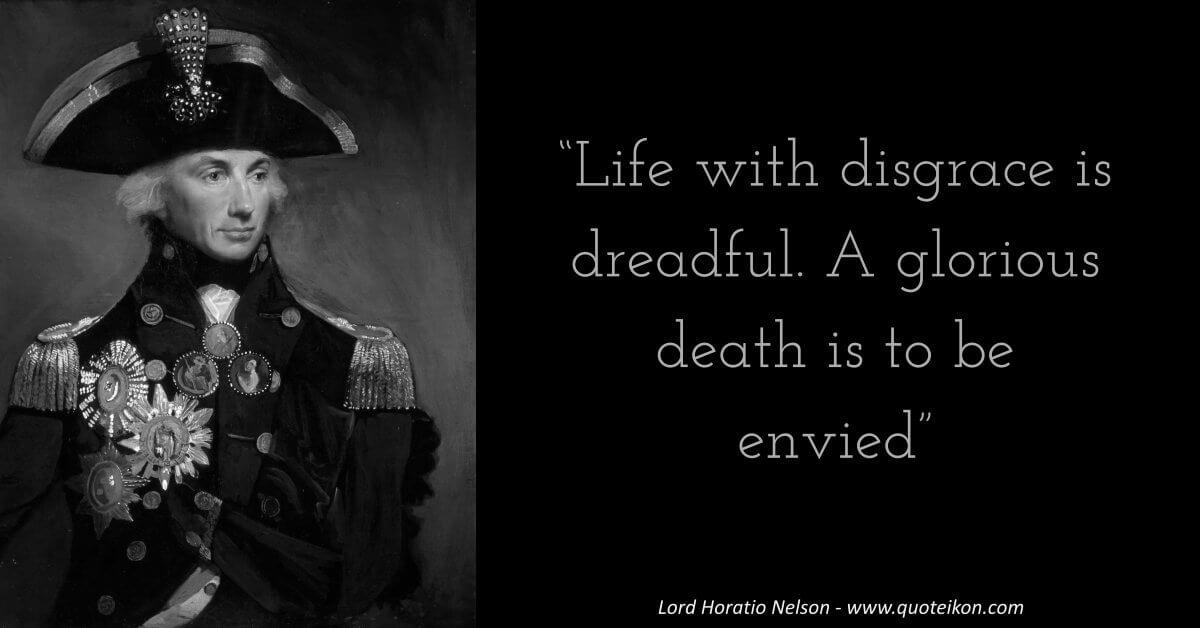Horatio Nelson  image quote