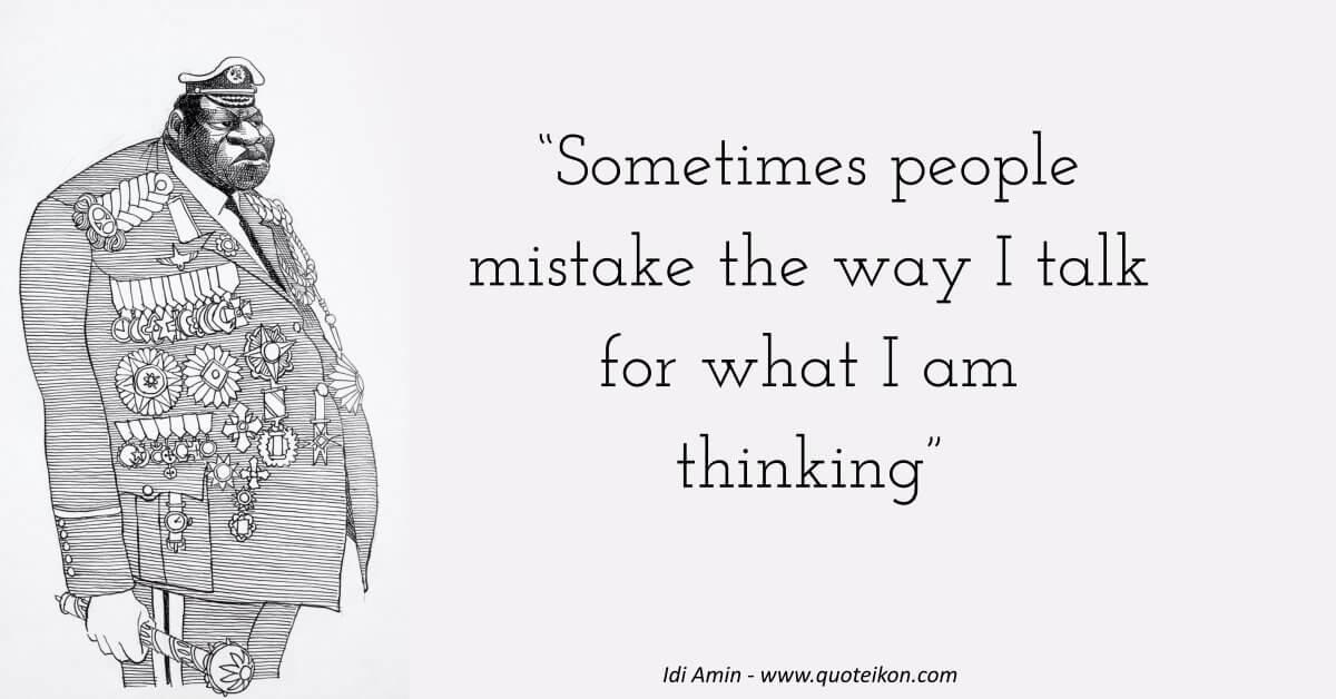 Idi Amin Quote