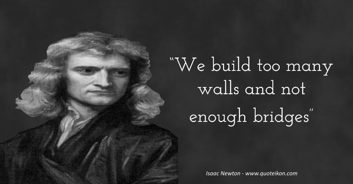 Isaac Newton image quote