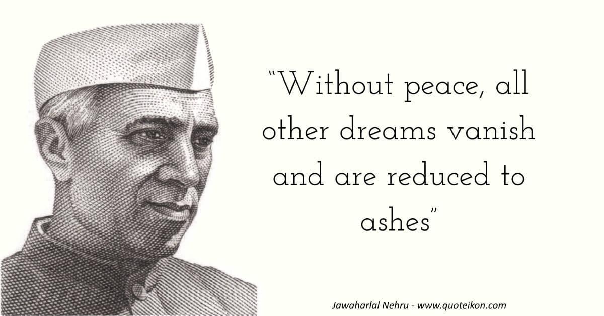 Jawaharlal Nehru image quote