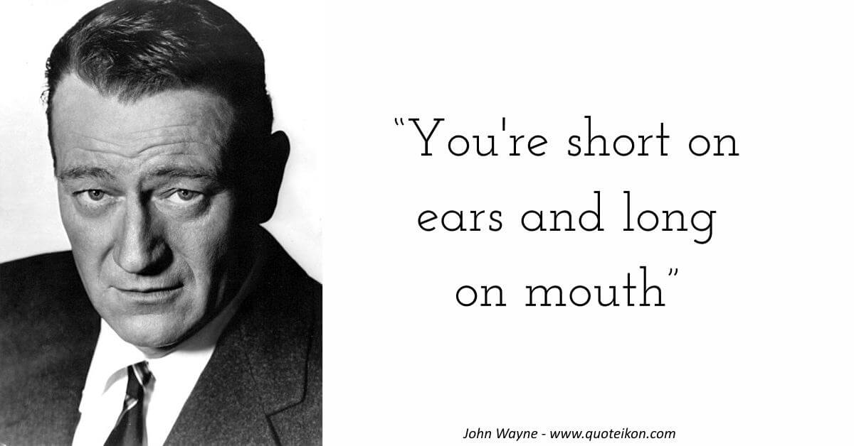 John Wayne image quote