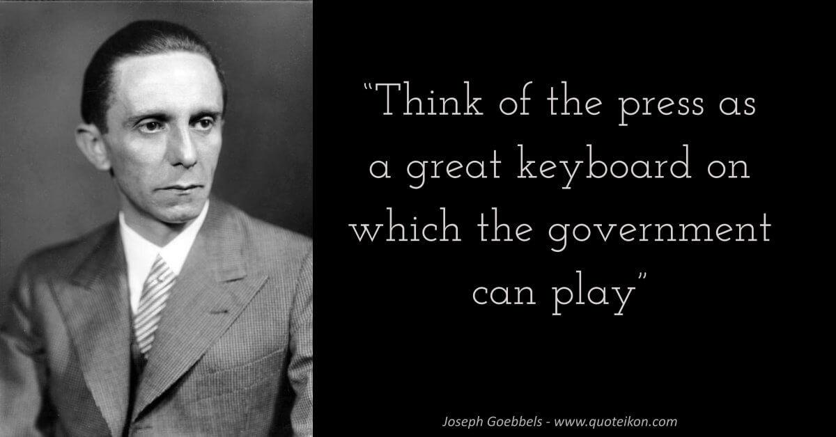 Joseph Goebbels image quote
