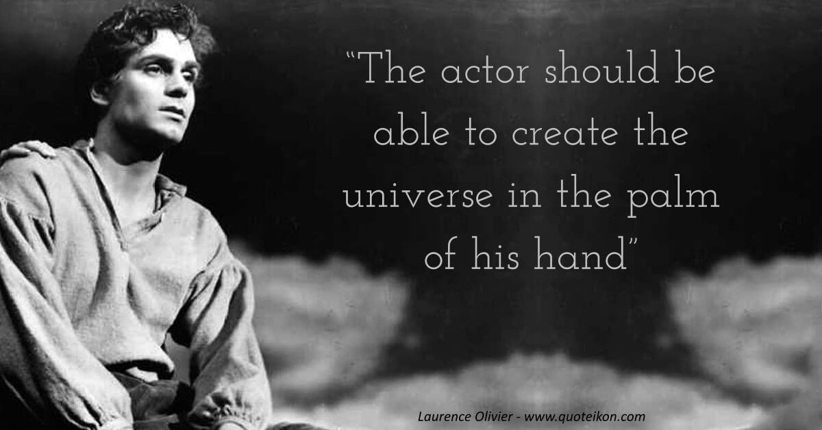 Laurence Olivier image quote