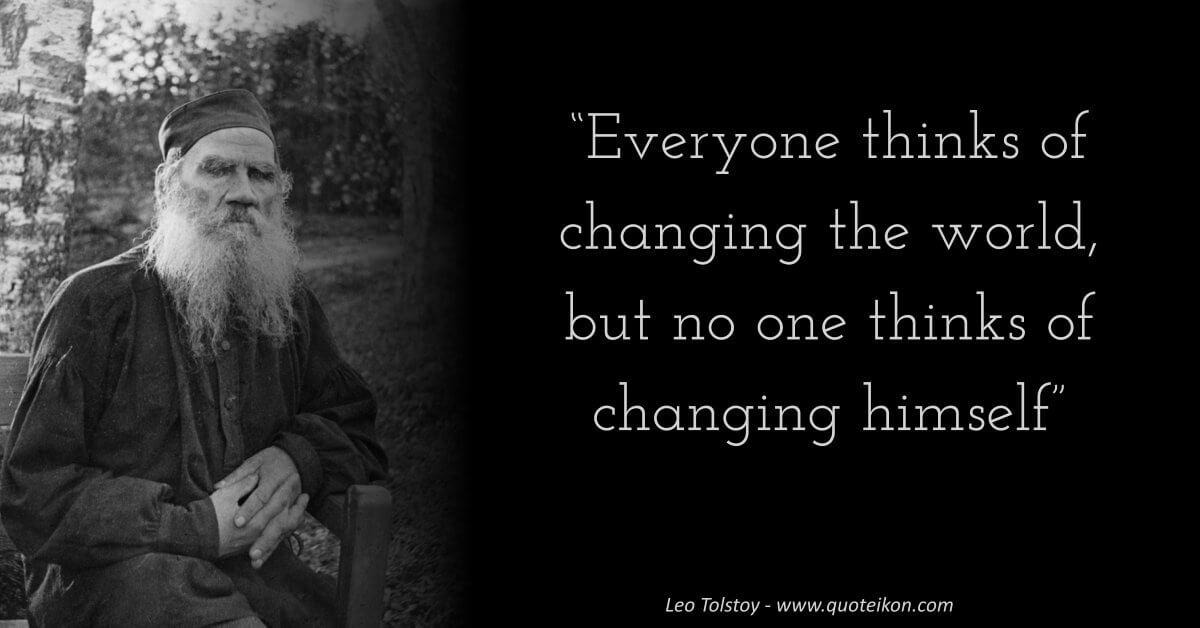Leo Tolstoy image quote