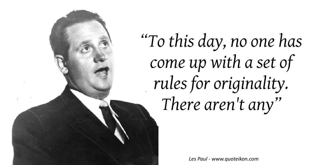 Les Paul image quote